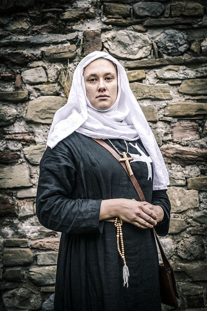 Nun of the Order of the Hospitallers Acre, Israel, 13th century. | Source: Getty Images