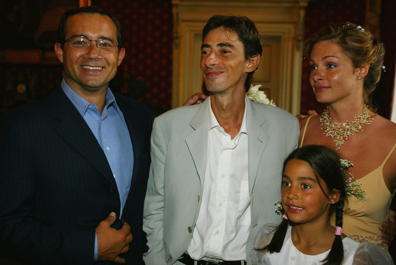 Jean-Luc Delarue présent au mariage de Philippe Vecchi et Macha Polikarpova. l Source : Getty Images