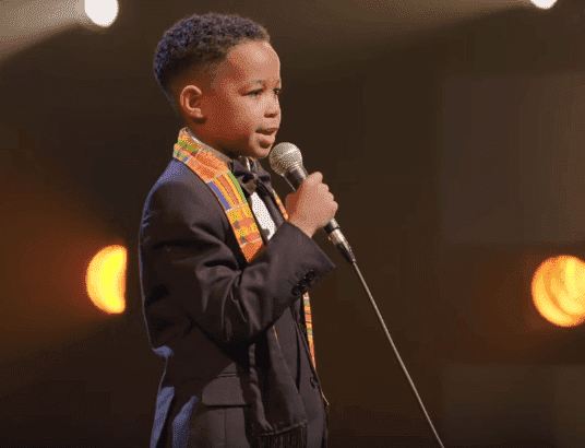 "Boy speaking in the documentary, ""We Are The Dream: The Kids of the Oakland MLK Oratorical"" 