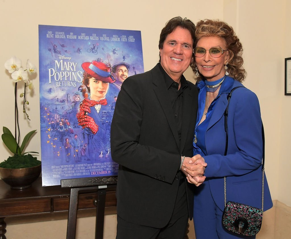 """Sophia Loren at the screening of """"Mary Poppins Returns"""" in Beverly Hills in January 2019 