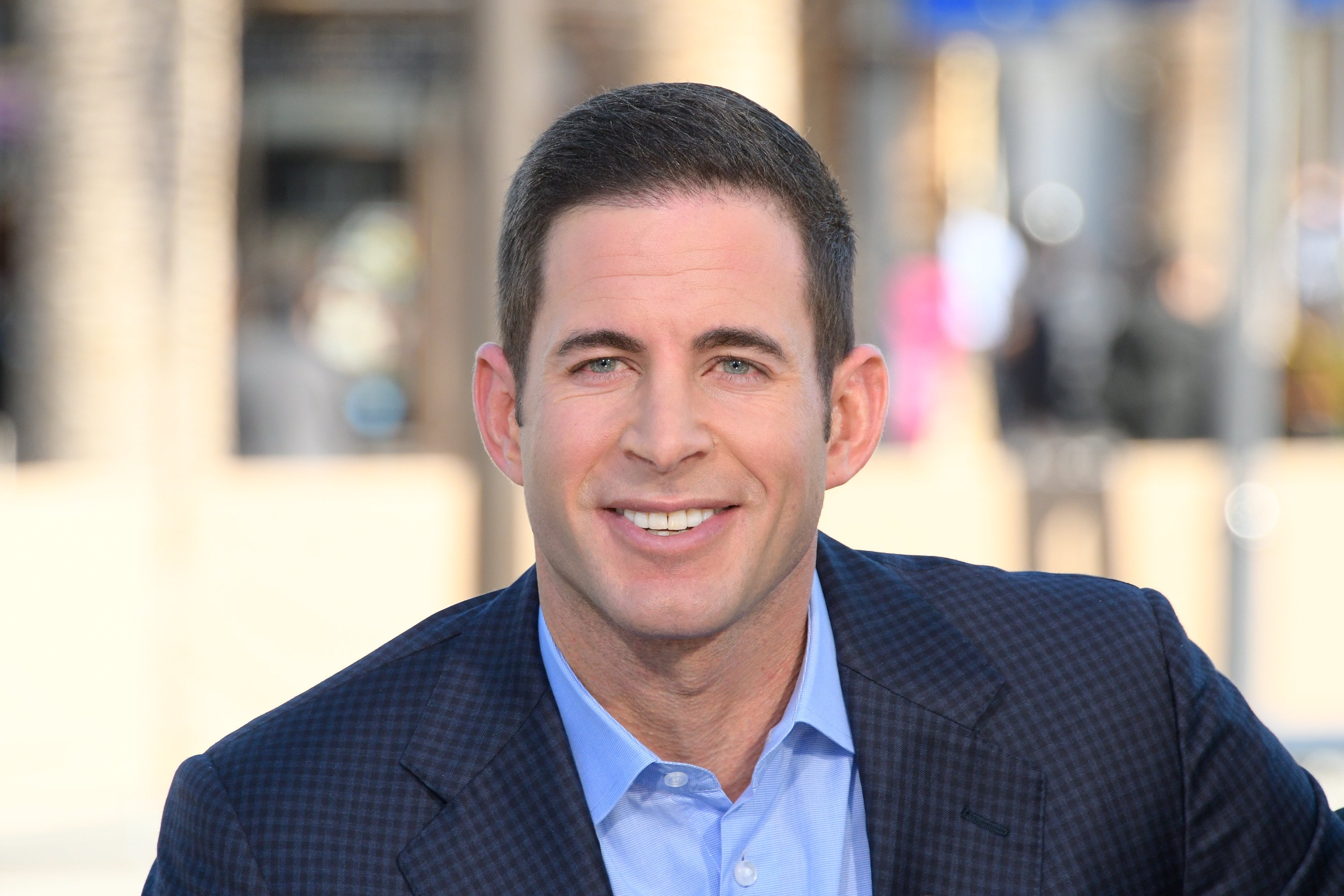 """Tarek El Moussa visits """"Extra"""" at Universal Studios Hollywood on February 28, 2017 in Universal City, California 