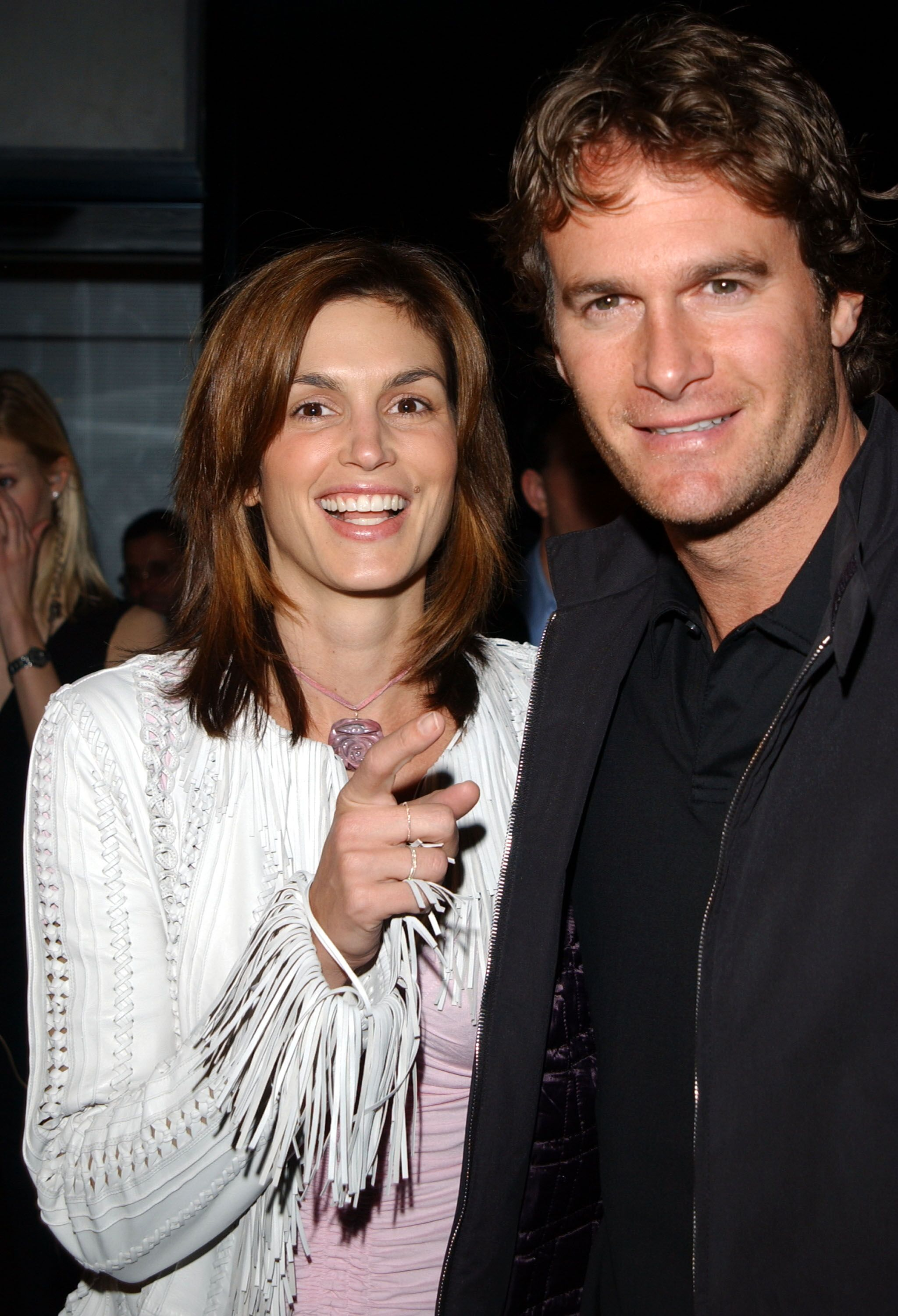 Cindy Crawford and husband Rande Gerber arrive at the Conde Nast Traveler Hot List party. | Source: Getty Images