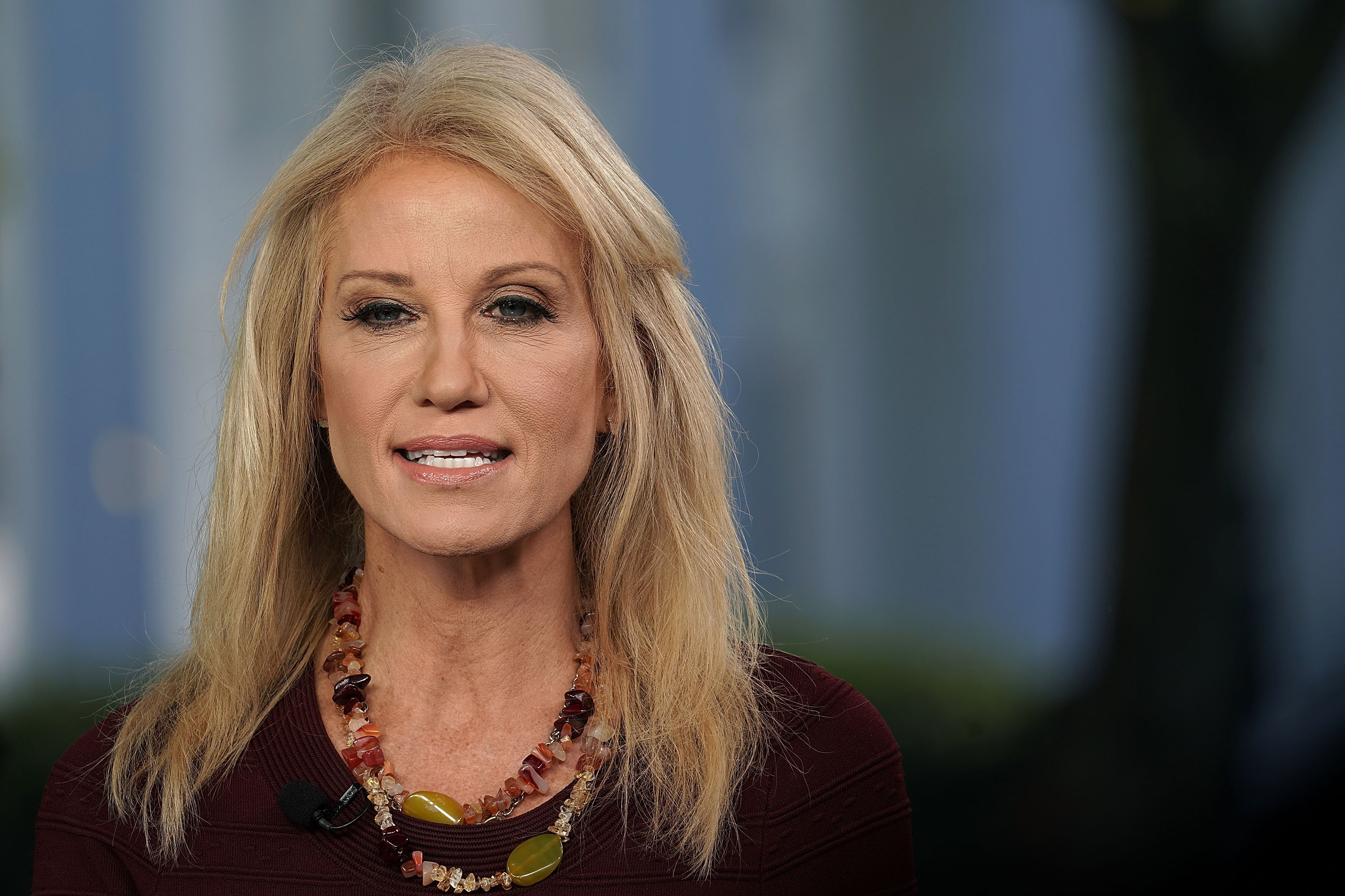 Counselor to U.S. President Donald Trump Kellyanne Conway participates in a TV interview October 3, 2018 at the White House in Washington, DC | Photo: Getty Images