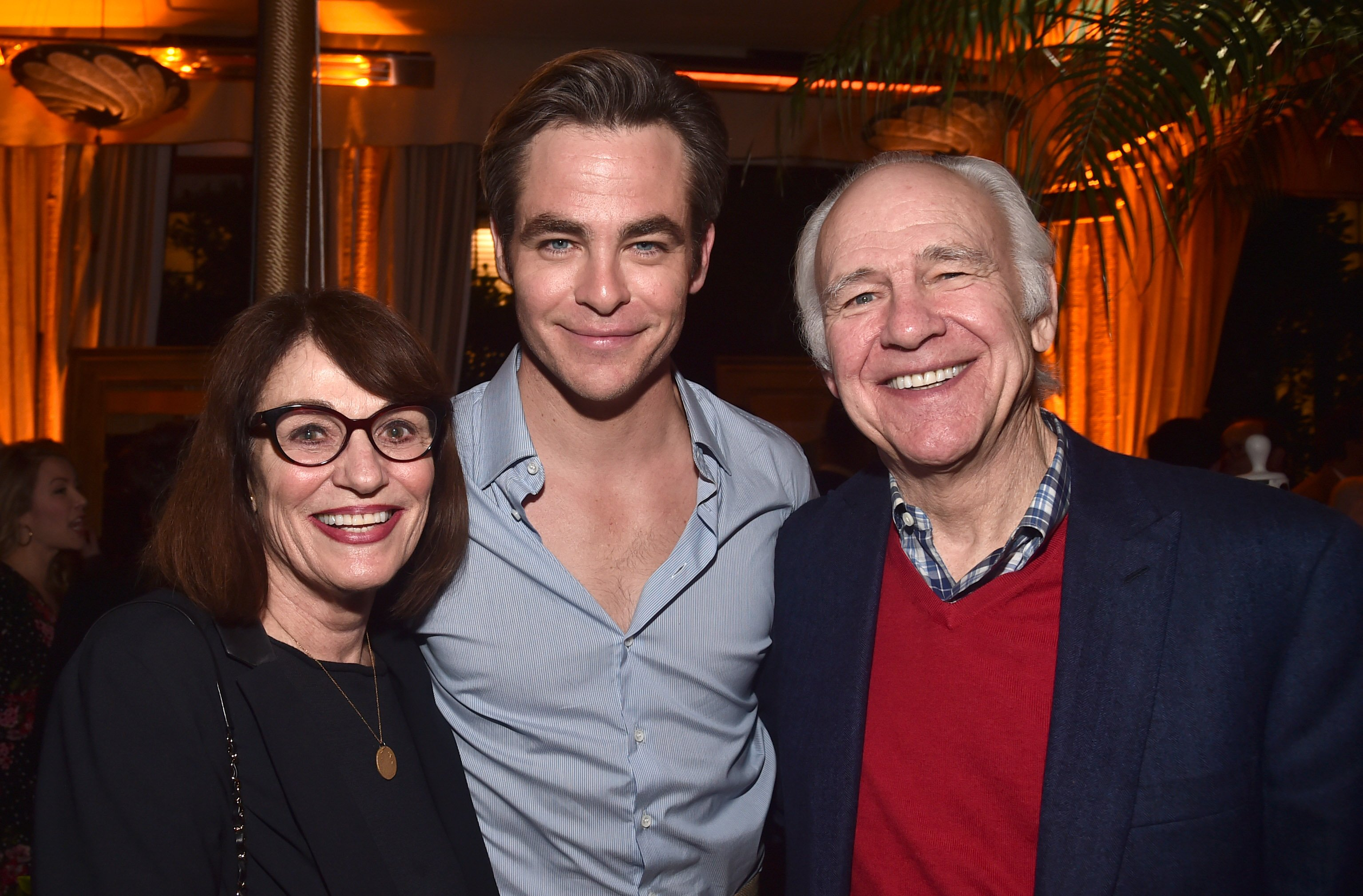 """Gwynne Gilford, Chris Pine and Robert Pine attend the after party for the premiere of TNT's """"I Am The Night"""" on January 24, 2019 in Los Angeles, California.  Source: Getty Images"""