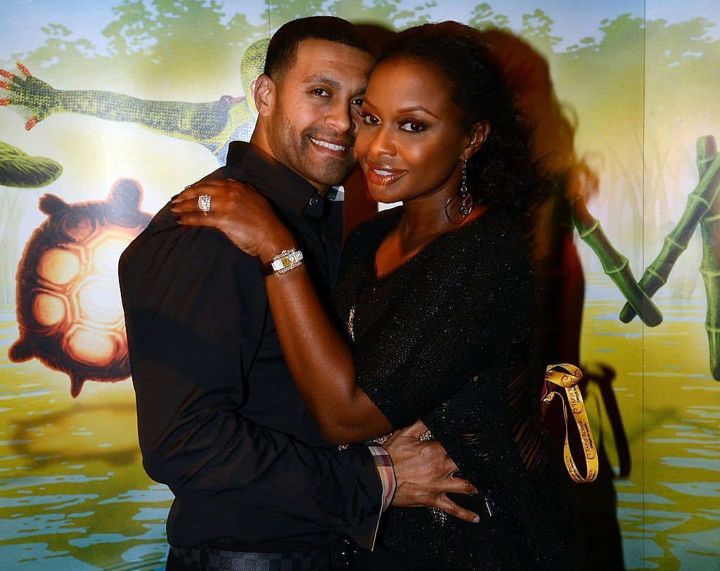 """""""Real Housewives of Atlanta"""" cast member Phaedra Parks (right) and Apollo Nida attend Cirque du Soleil TOTEM Premiere at Atlantic Station 