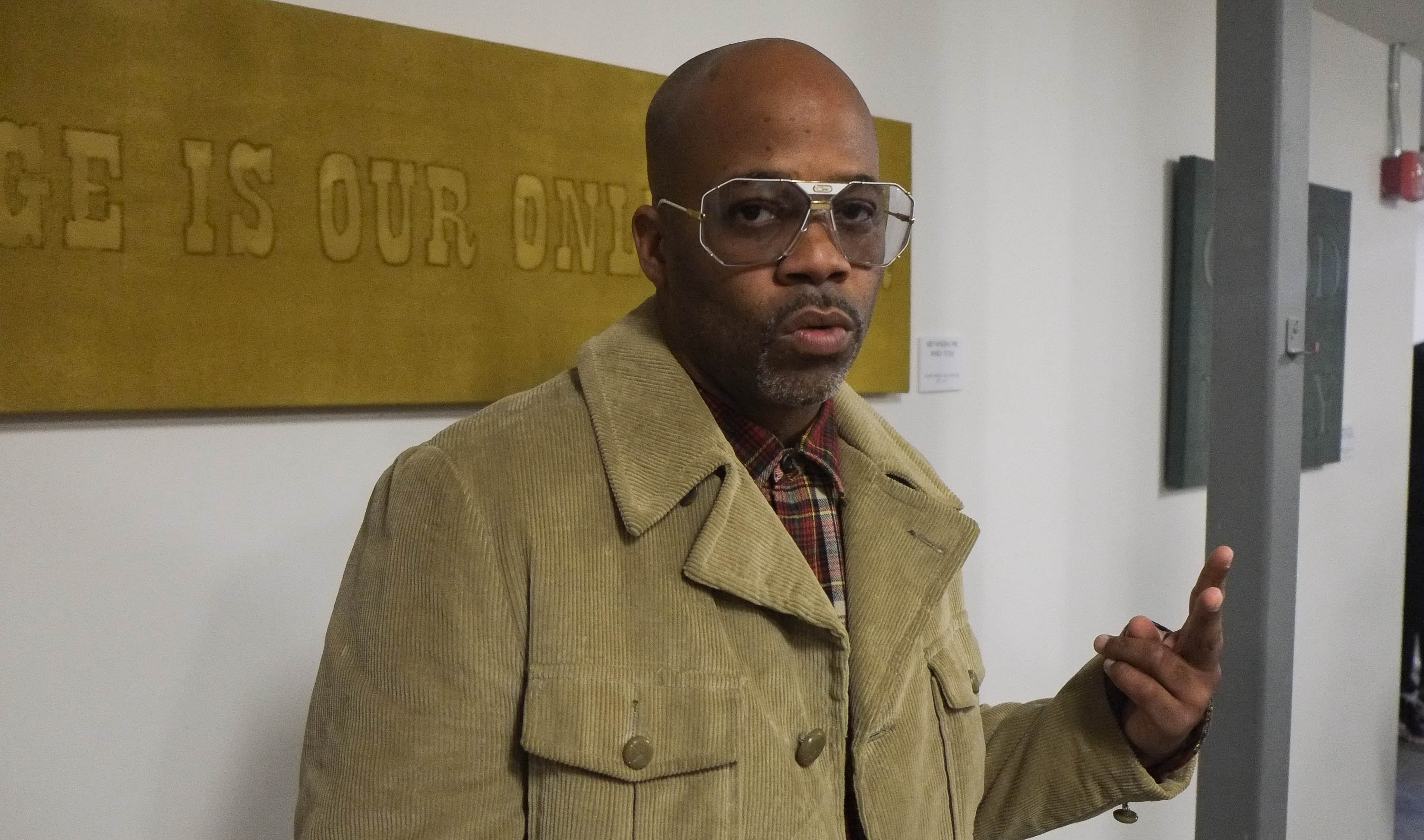 Damon Dash attending an art exhibition in New York in March 2014. | Photo: Getty Images