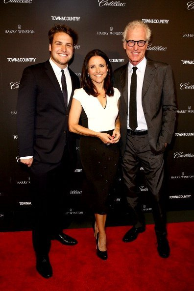 """Henry Hall, Julia Louis-Dreyfus and Brad Hall attend the T&C Philanthropy Summit with screening of """"Generosity Of Eye"""" at Lincoln Center with Town & Country on May 28, 2014, in New York City. 