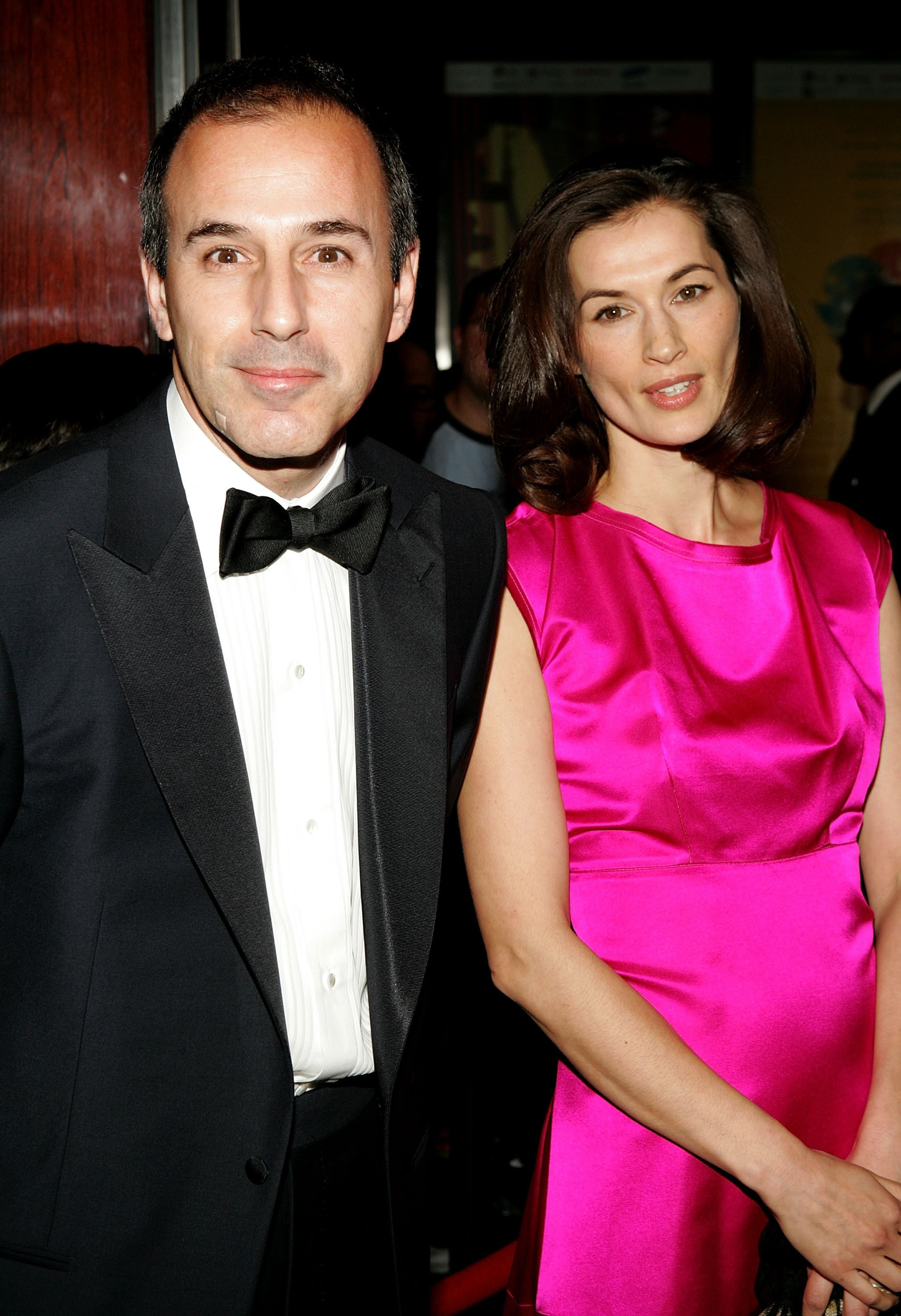"""Matt Lauer and wife Annette Roque arrive for Time Magazine Celebrates New """"Time 100"""" list of Most Influential People In The World.   Source: Getty Images"""