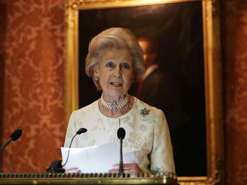 Princess Alexandra at a reception to celebrate the patronages of the Princess, in the year of her 80th birthday at Buckingham Palace on November 29, 2016 | Photo: Getty Images