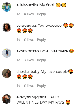 Fans' comments on Tika Sumpter's Instagram page | Photo: Insstagram/tikasumpter