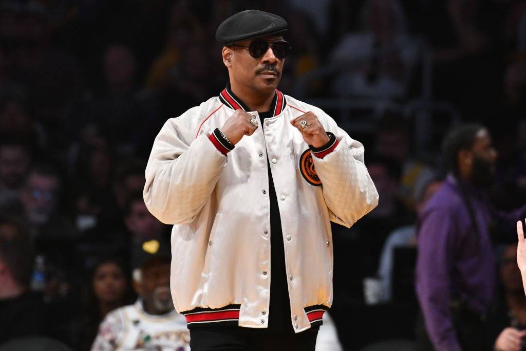 Eddie Murphy attends a basketball game between the Los Angeles Lakers and the Boston Celtics at Staples Center on February 23, 2020 | Photo: Getty Images