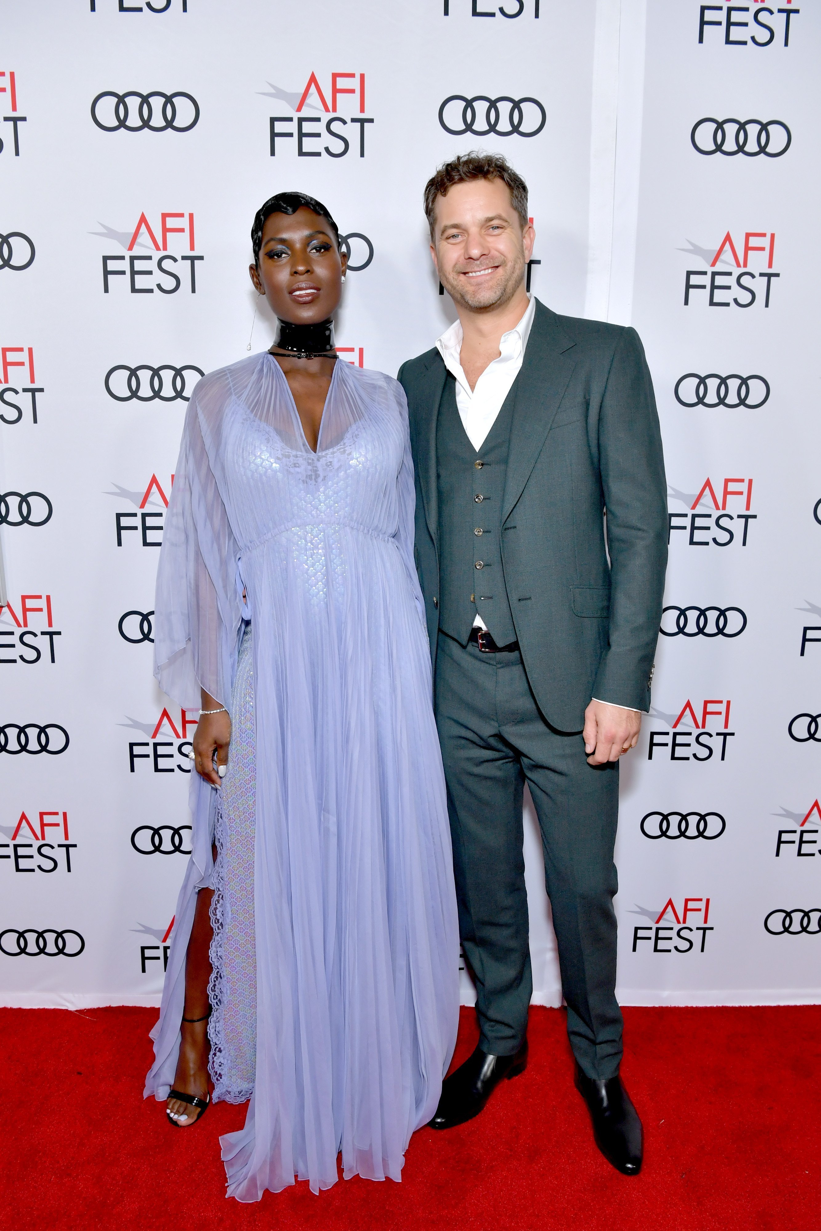 """Joshua Jackson and Jodie Turner-Smith at the """"Queen & Slim"""" premiere in November 2019. 