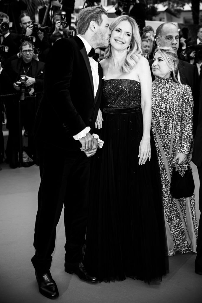 "ohn Travolta and Kelly Preston attend the screening of ""Solo: A Star Wars Story"" during the 71st annual Cannes Film Festival  