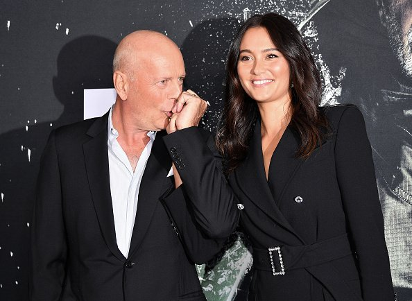 "Bruce Willis and Emma Heming at the ""Glass"" NY Premiere in New York City.