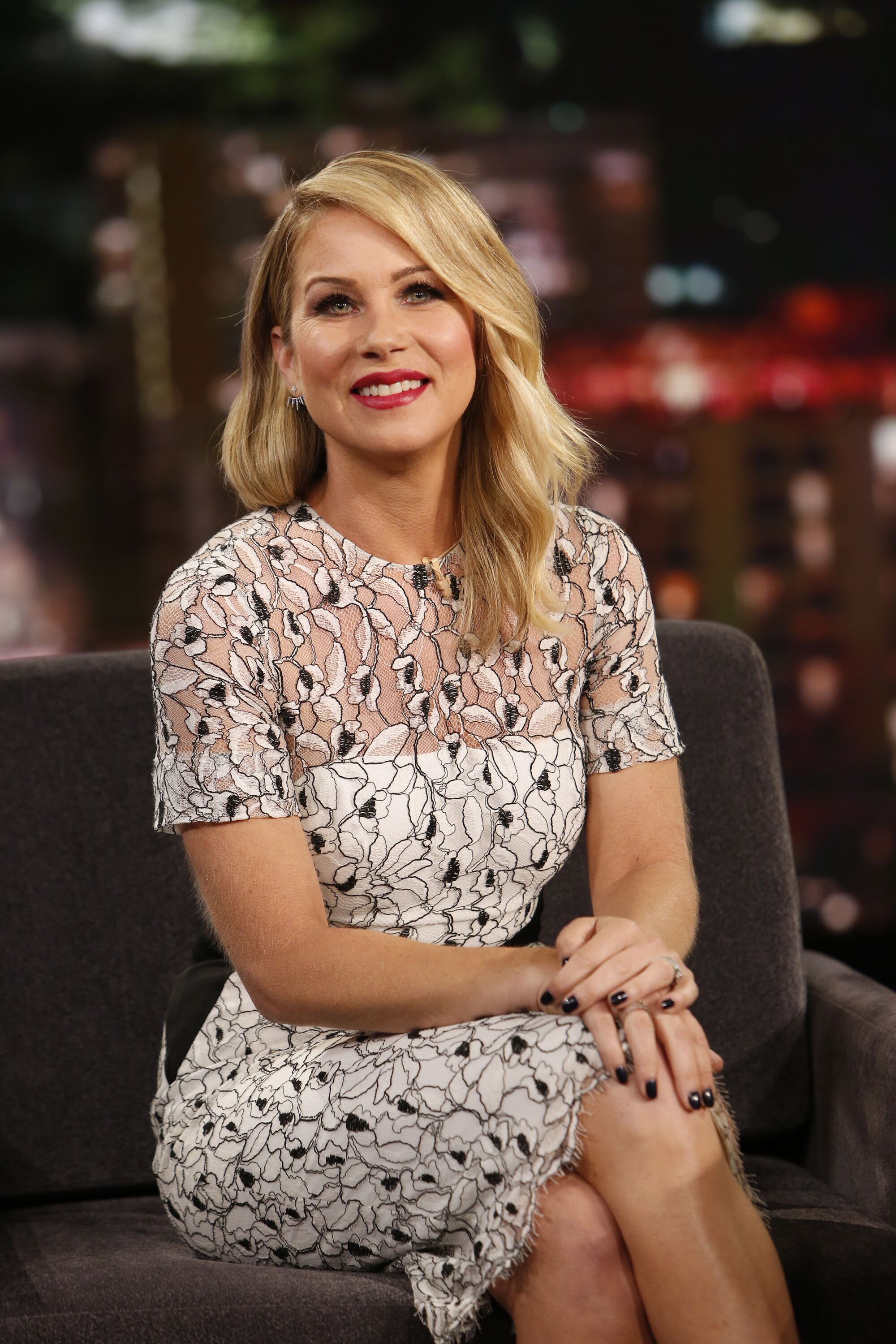 """Christina Applegate on """"Jimmy Kimmel Live"""" in 2015 