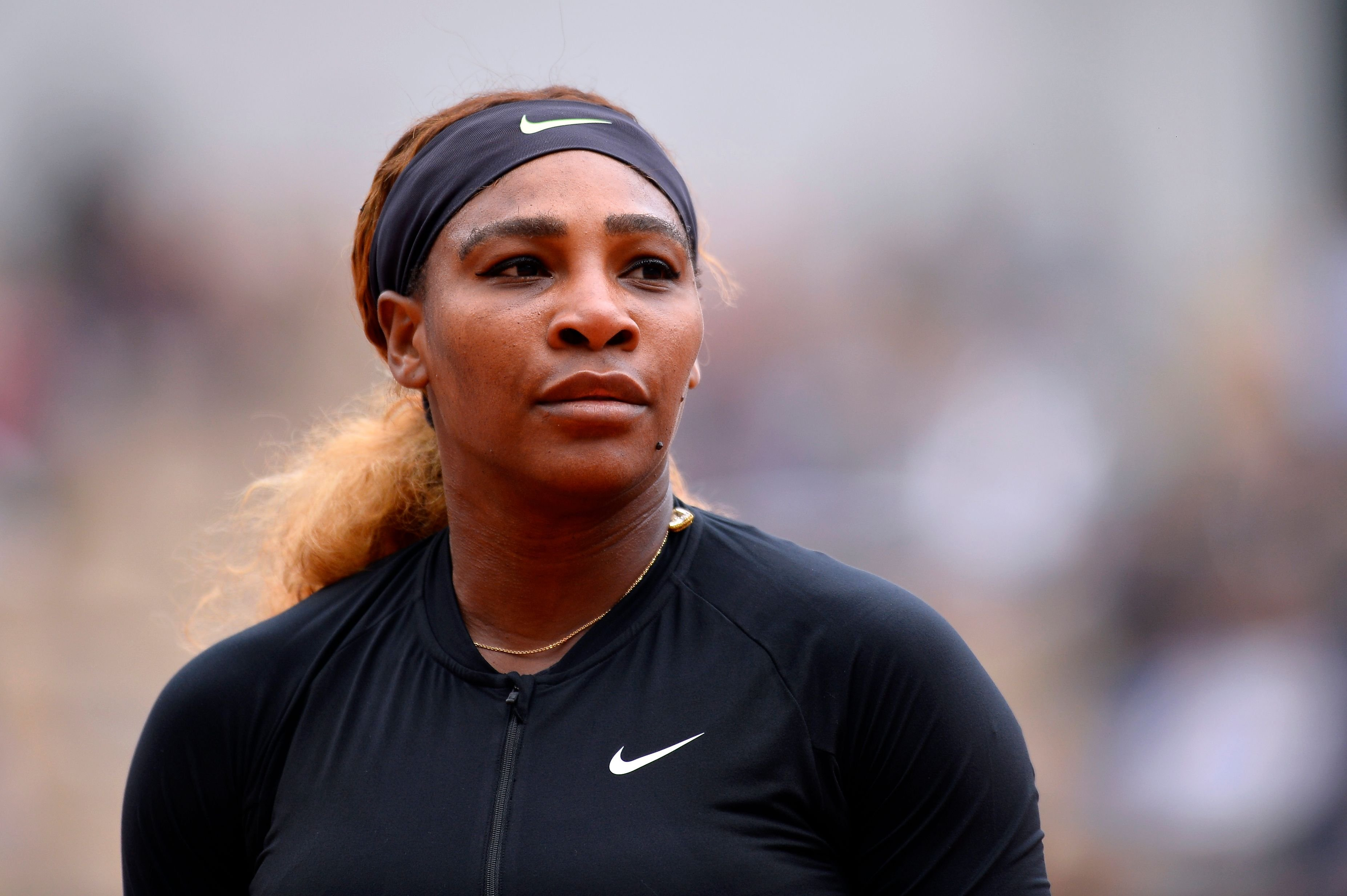 Serena Williams at the 2019 French Open at Roland Garros on May 30, 2019   Photo: Getty Images