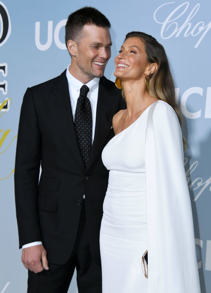 Tom Brady and Gisele Bundchen share a laugh as they arrived at the Hollywood For Science Gala on February 21, 2019, in Los Angeles, California   Source: Getty Images (Photo by Jon Kopaloff/FilmMagic)