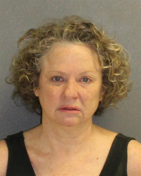 Julie Edwards, 53, went on a racially charged attack against a deputy.   Photo: Volusia County Corrections. Public Access