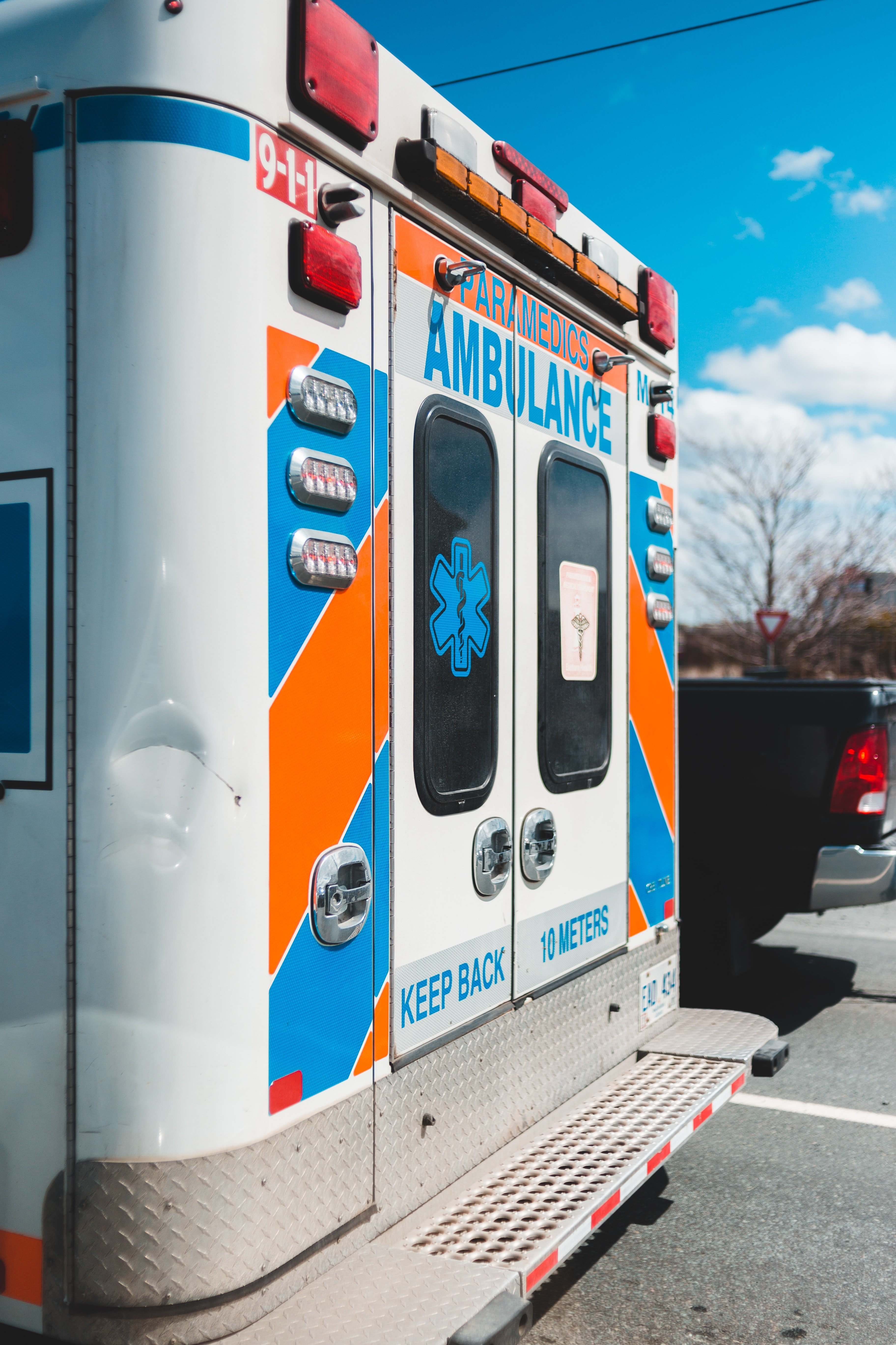 An ambulance parked in front of his house. | Source: Unsplash