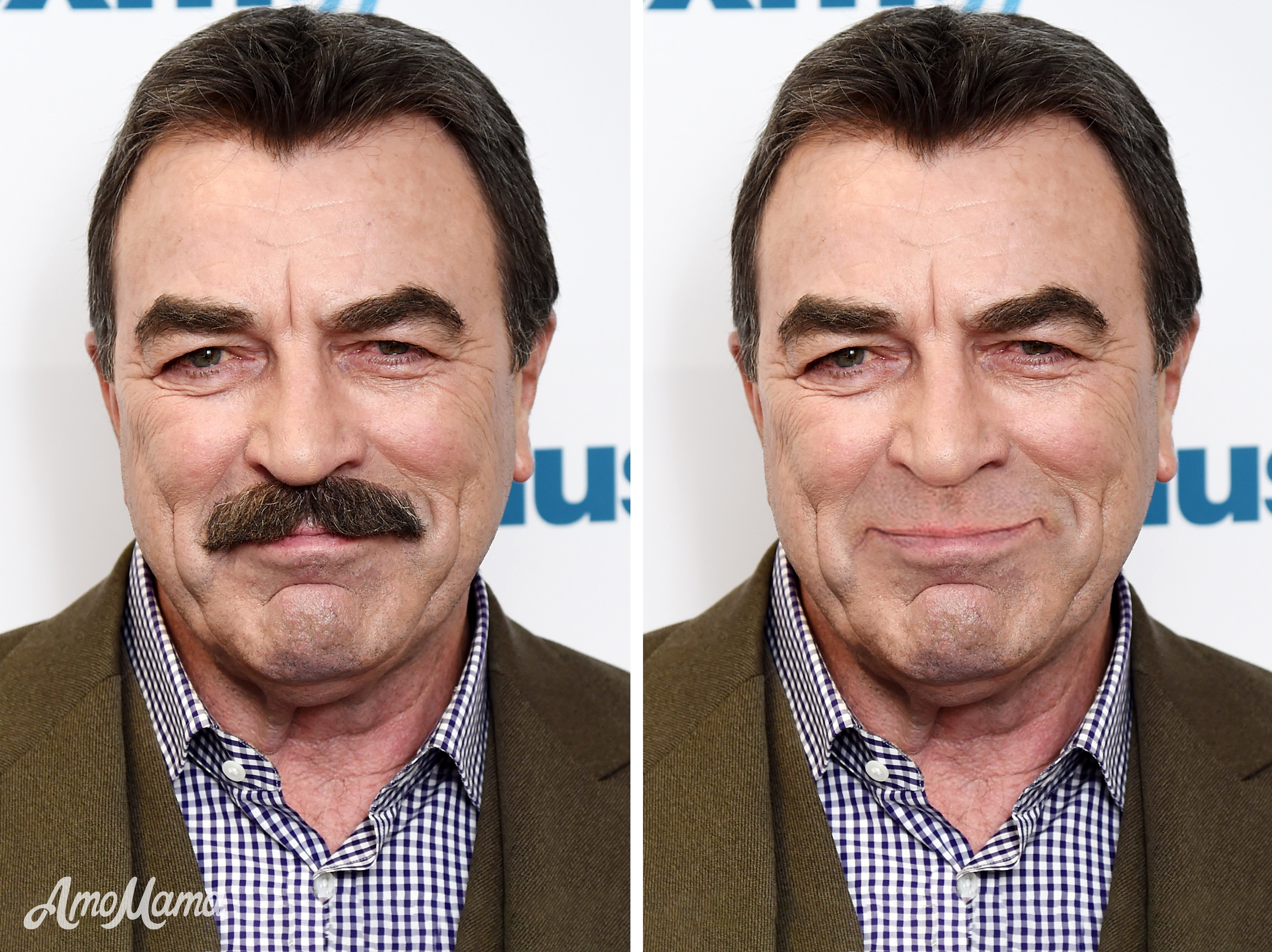 Tom Selleck's before and after moustache look | Photo: Getty Images