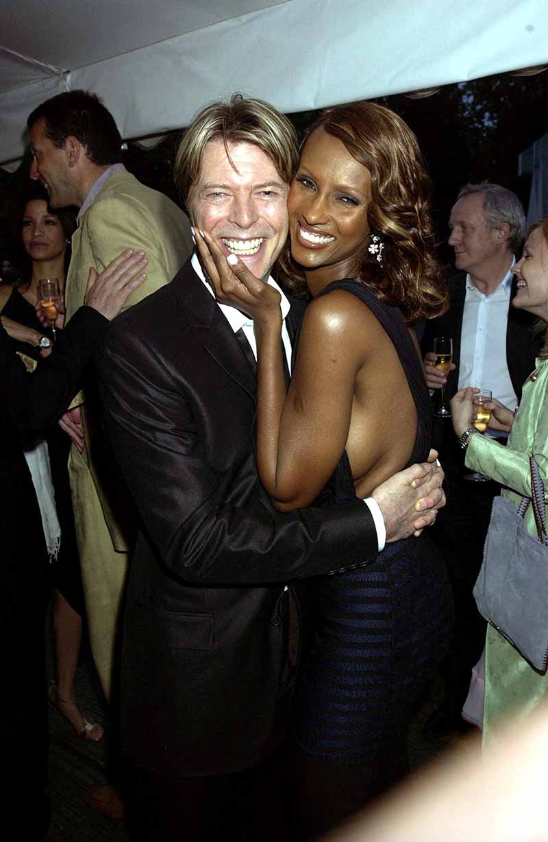 David Bowie & Wife Iman, The Serpentine Gallery Summer Party In London in 2002. I Image: Getty Images.
