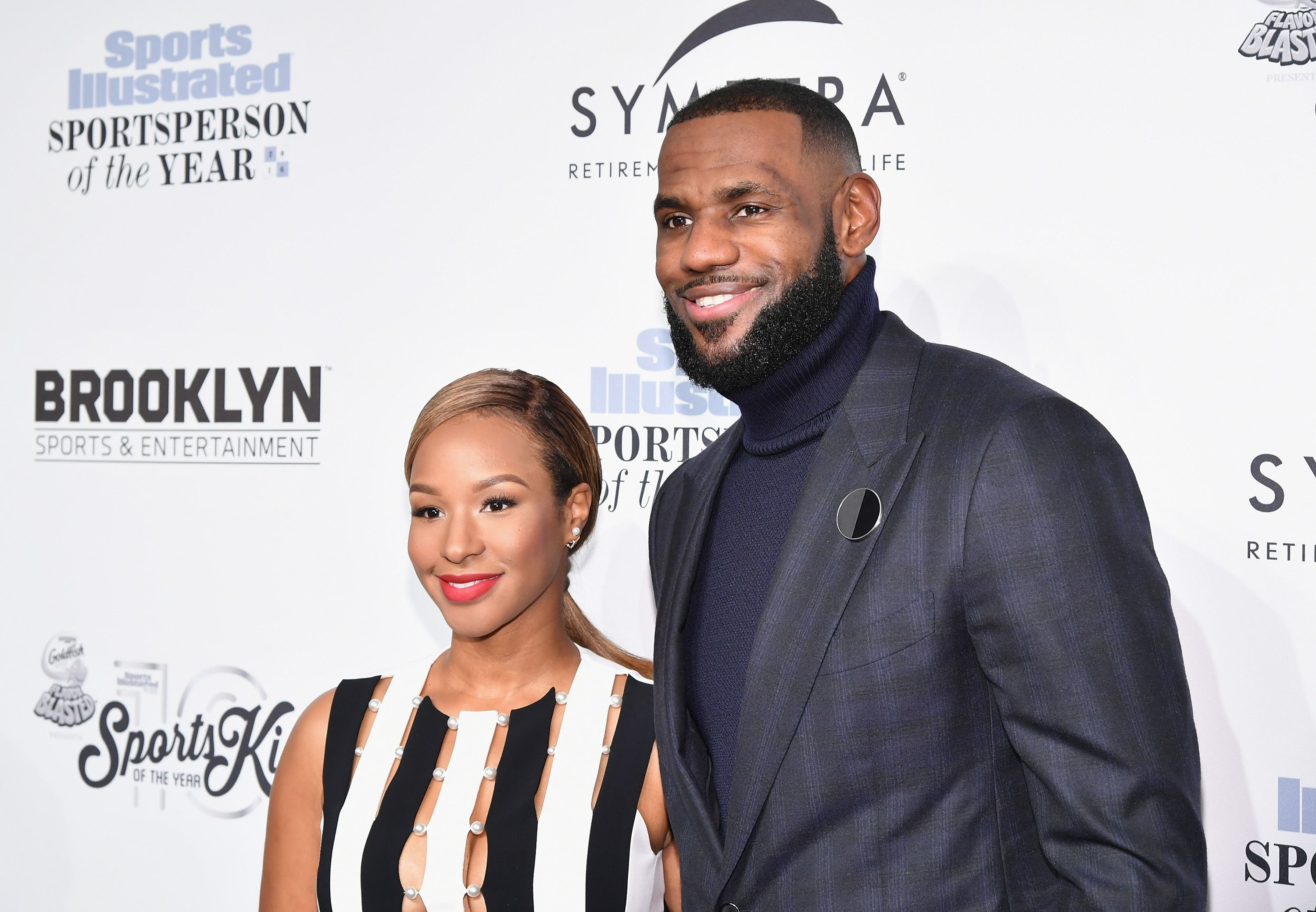 Savannah Brinson and Basketball Player Lebron James at the Sports Illustrated Sportsperson of the Year Ceremony 2016 at Barclays Center of Brooklyn on December 12, 2016 in New York City. | Photo: Getty Images