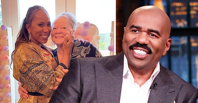 Steve Harvey's Wife Marjorie Kisses Her Smiling Gray-Haired Mom in a Rare Pic on Mother's Day