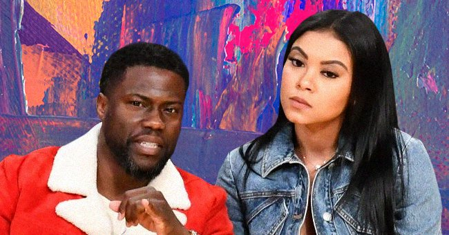 Kevin Hart and Eniko Parrish at a basketball game at Staples Center on December 25, 2019 in Los Angeles, California.   Photo: Getty Images