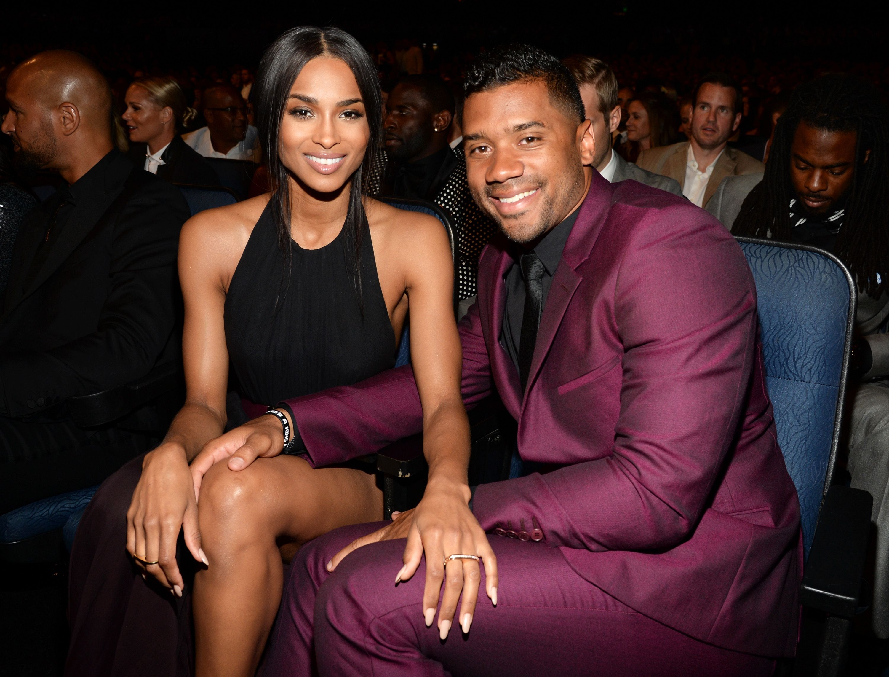 Ciara and Russell Wilson at the 2015 ESPYS at Microsoft Theater in Los Angeles, California | Photo: Kevin Mazur/WireImage