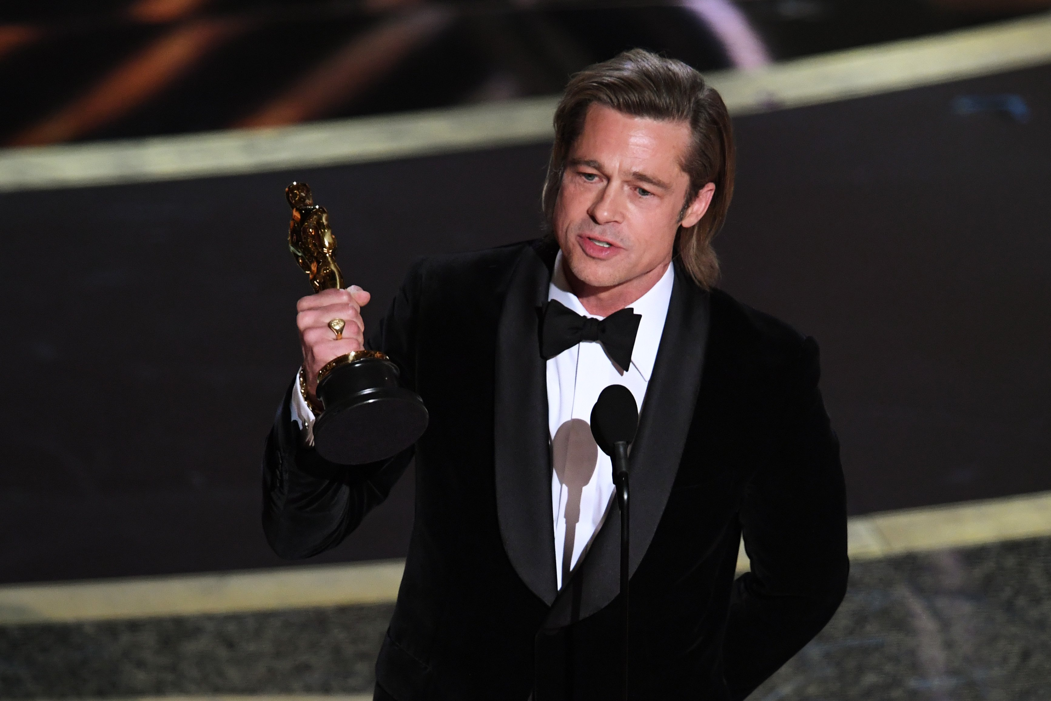 Brad Pitt onstage during the 92nd Annual Academy Awards at Dolby Theatre on February 09, 2020 | Photo: Getty Images