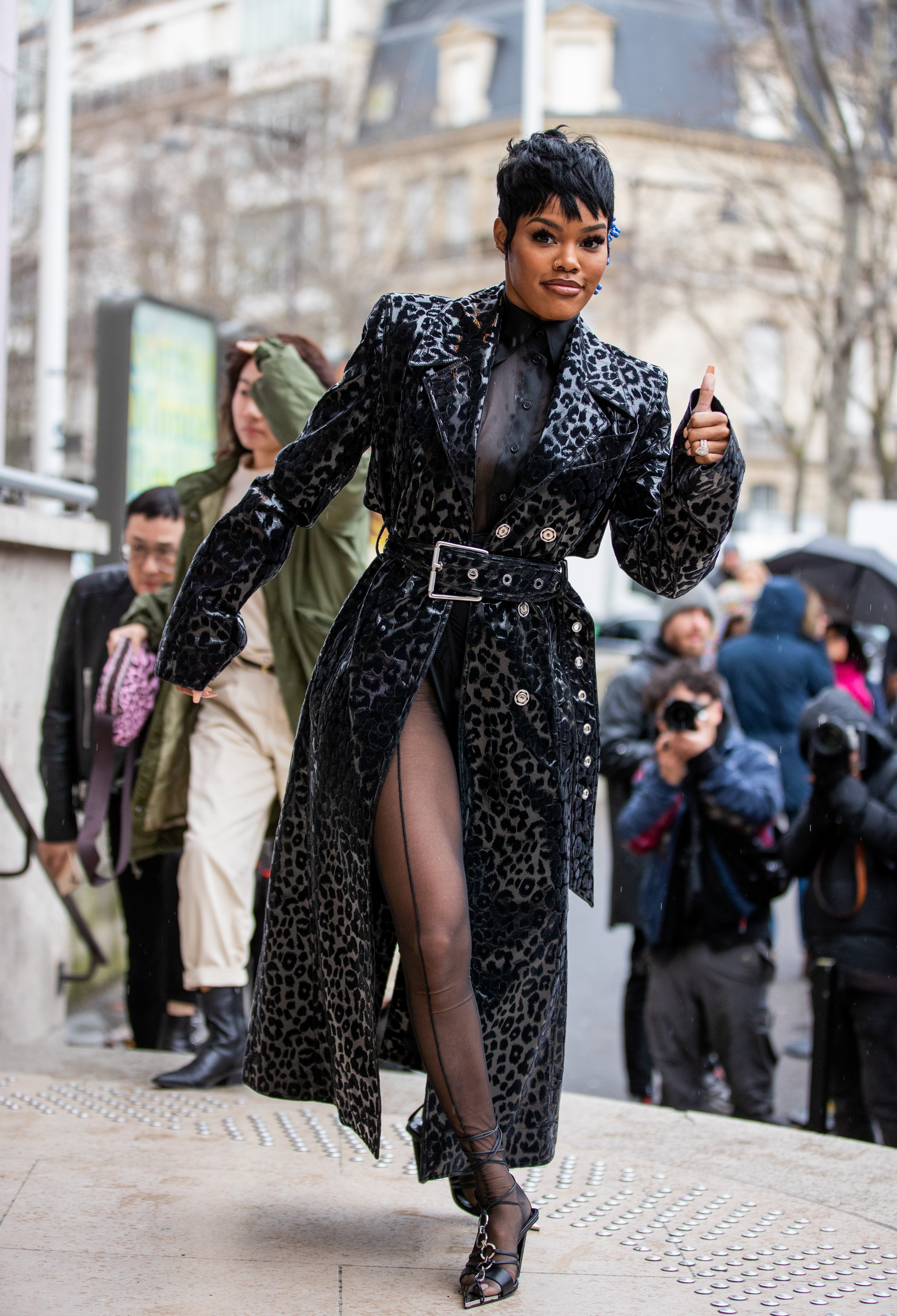 Teyana Taylor during Paris Fashion Week 2020/2021 on February 26, 2020 in Paris, France. |Source: Getty Images