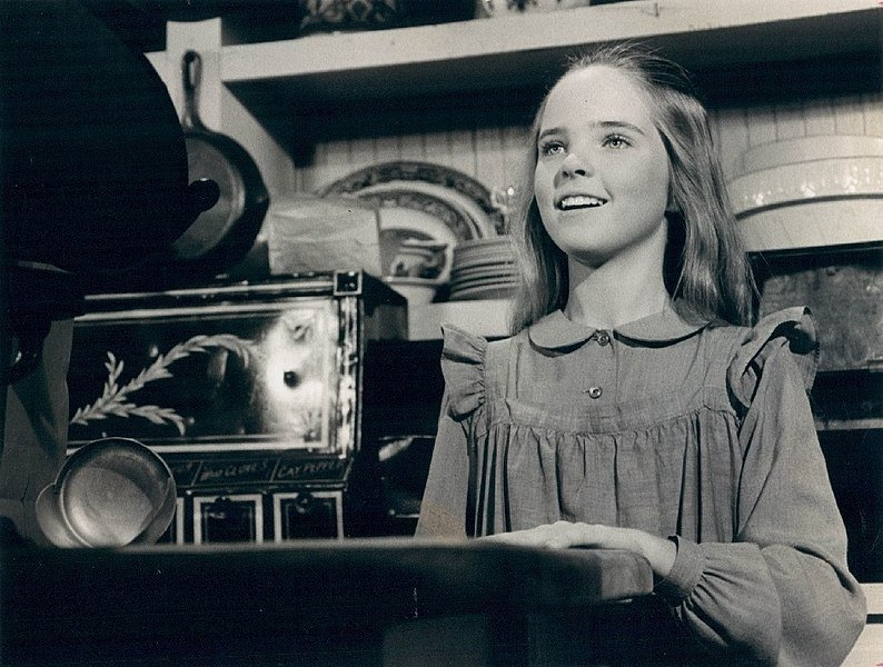 "Publicity photograph of Melissa Sue Anderson as fictional depiction of Mary Ingalls of the television series ""Little House on the Prairie."" 