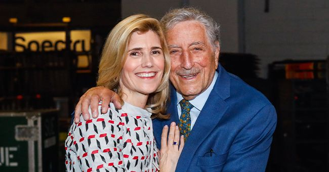 Tony Bennett and Susan Crow backstage at the 63rd sold out show of Billy Joel's residency at Madison Square Garden in New York City   Photo: Myrna M. Suarez/Getty Images