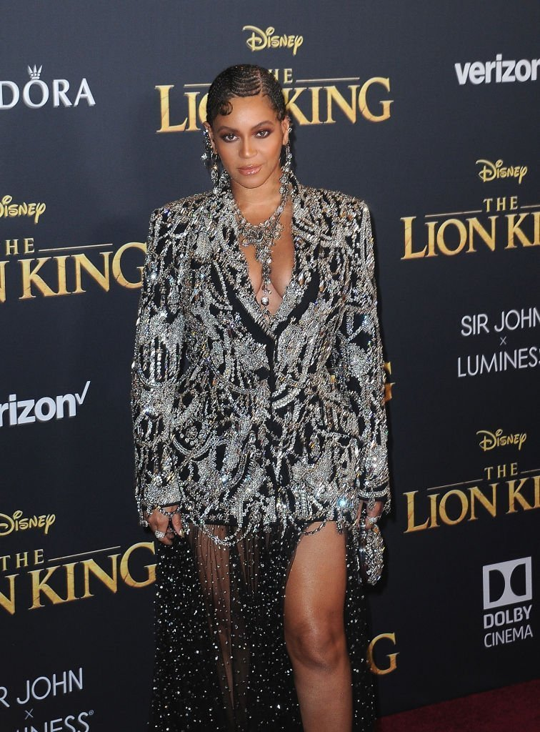 "Beyonce arrives for the Premiere Of Disney's ""The Lion King"" held at Dolby Theatre 