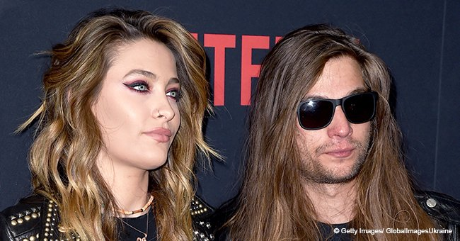 Paris Jackson Dons Studded Leather Jacket to Pose with Her Beau in a Rare Red Carpet Appearance