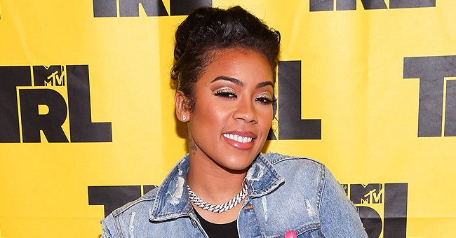 Check Out Keyshia Cole's Cool Arm Tattoo as She Poses in a Strapless Pink Dress