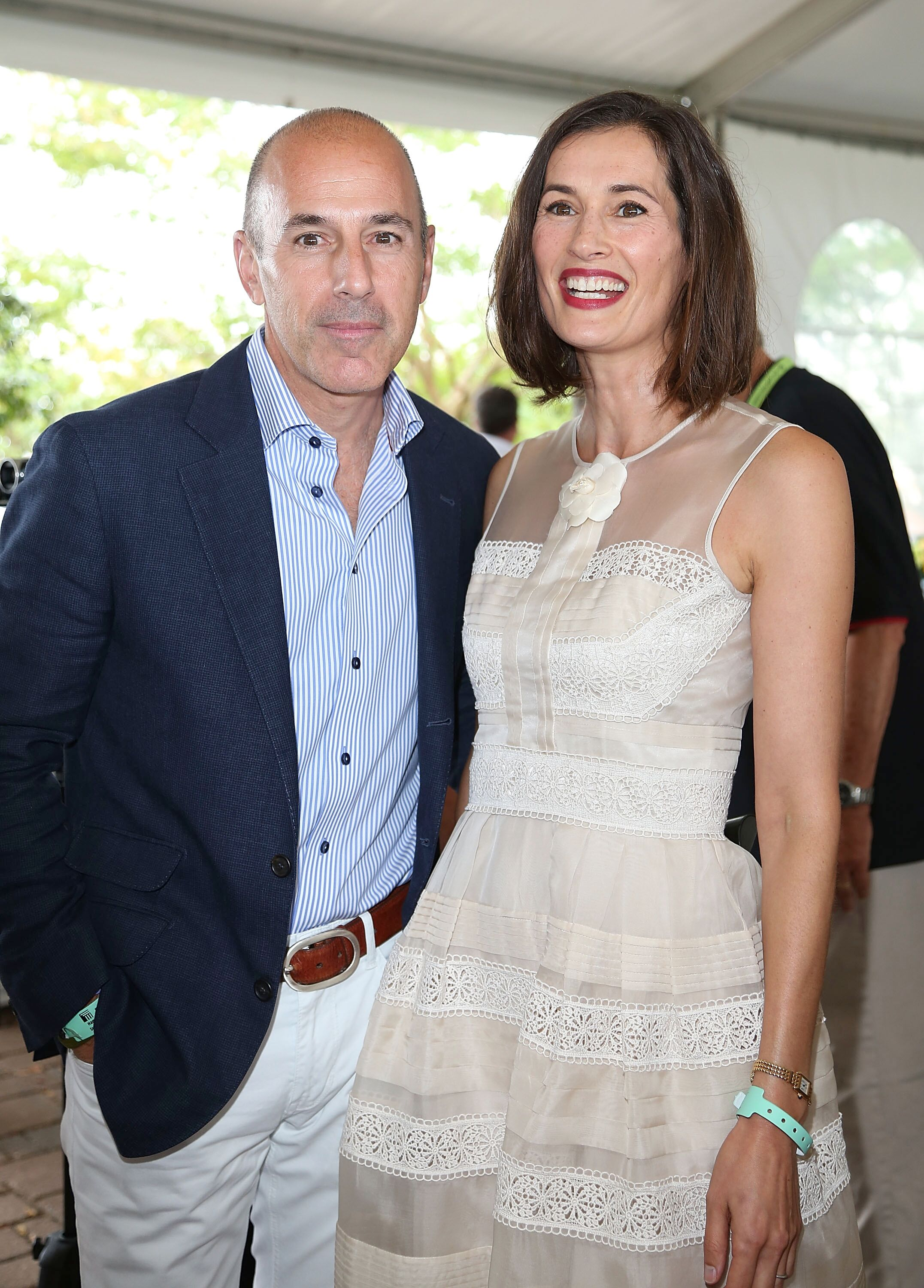 Matt Lauer and wife Annette Roque Lauer at the 38th Annual Hampton Classic Horse Show on September 1, 2013, in Bridgehampton, New York   Photo: Sonia Moskowitz/Getty Images