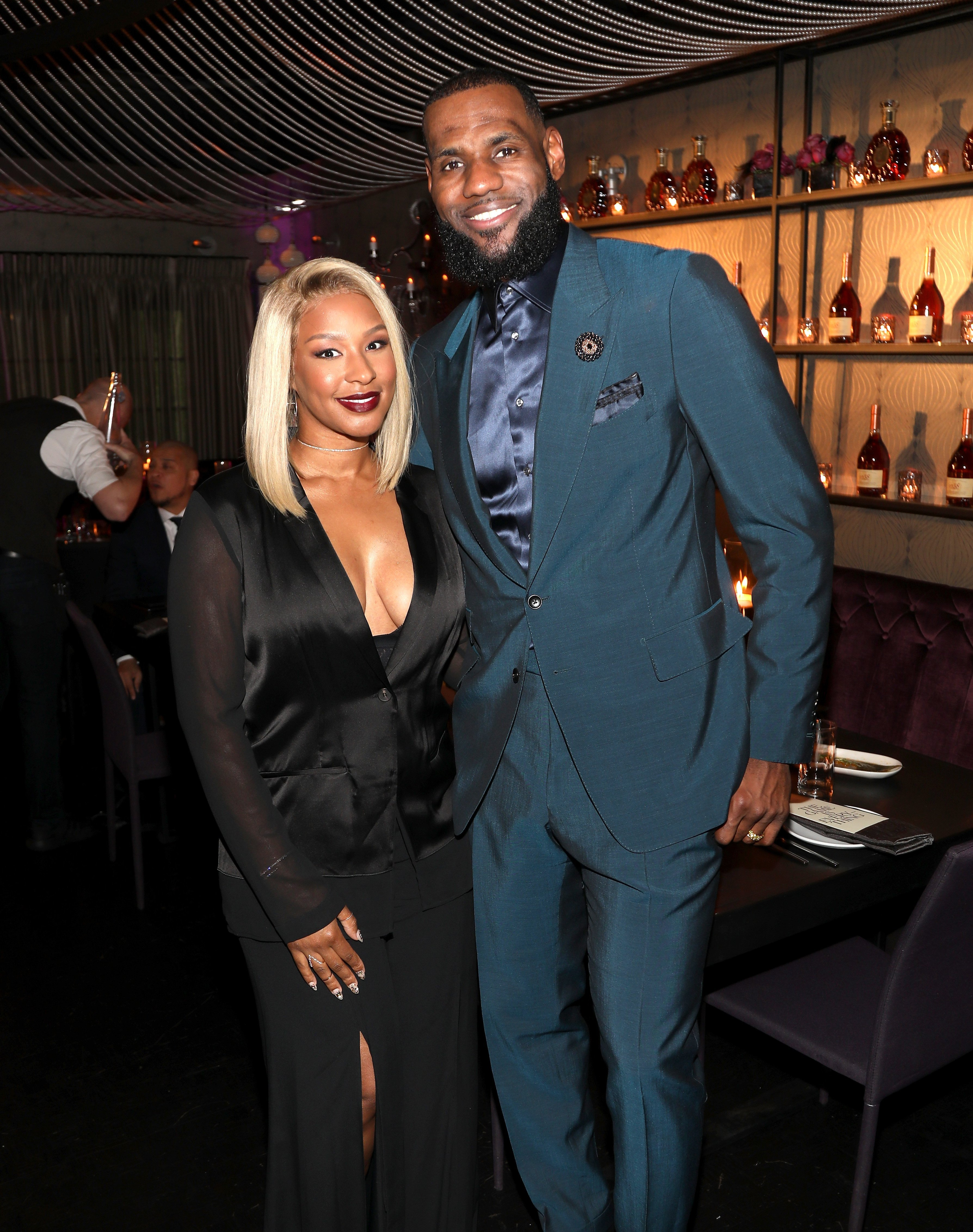 "Savannah & LeBron James at the Klutch Sports Group ""More Than A Game"" Dinner on Feb. 17, 2018 in Los Angeles 