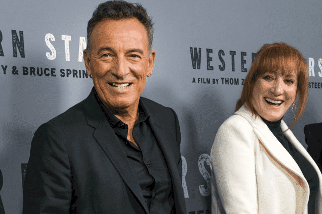 """Bruce Springsteen and Patti Scialfa pictured at the New York special screening of """"Western Stars."""" 2019, New York City. 