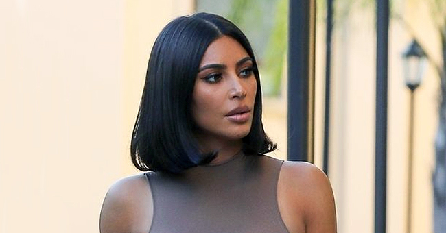 Kim Kardashian Spotted in Husband Kanye West's Label While out Running Errands in Calabasas