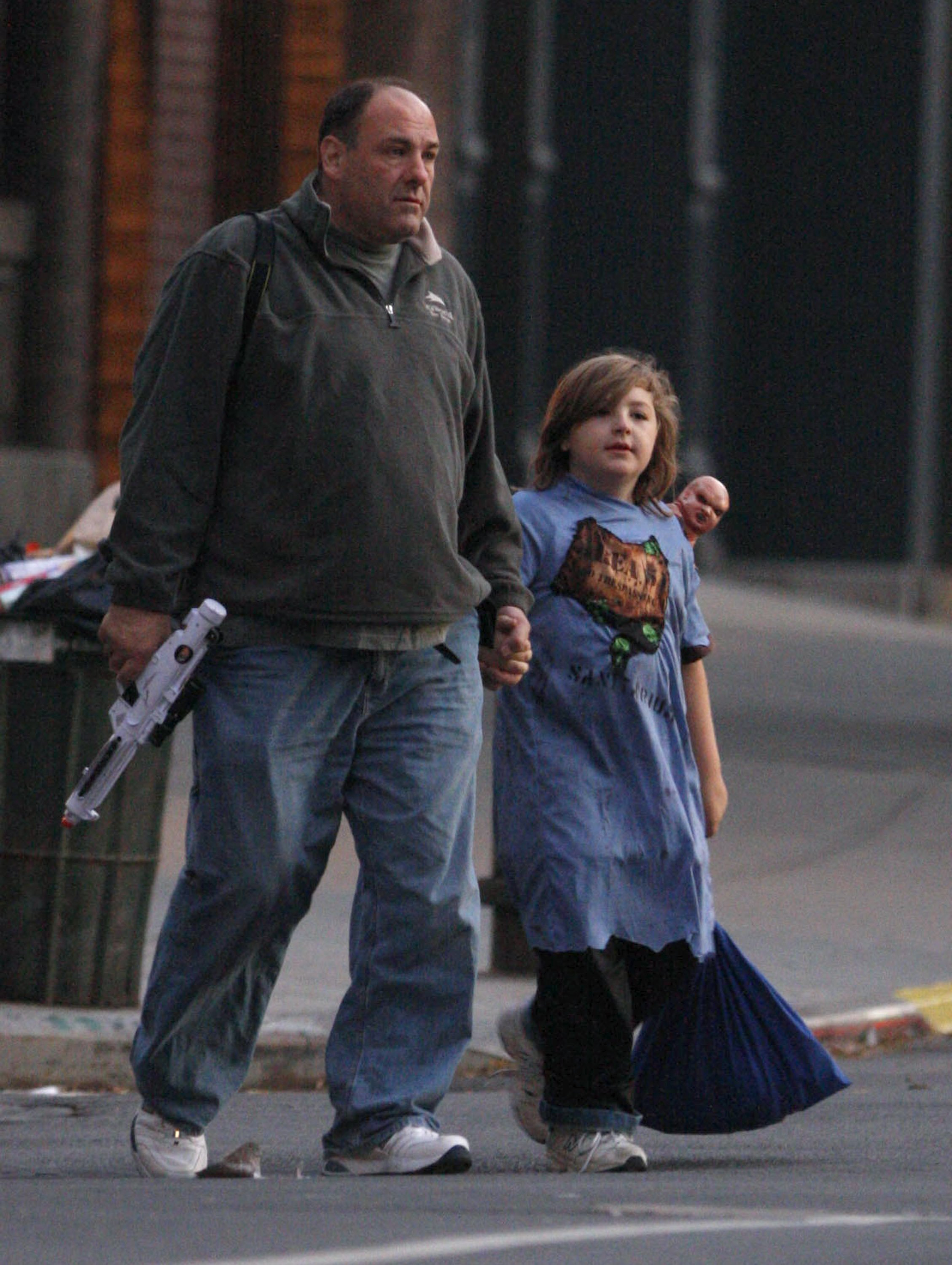 James and a young Michael Gandolfini go Trick-or-Teating in New York, October, 2008.   Photo: Getty Images.