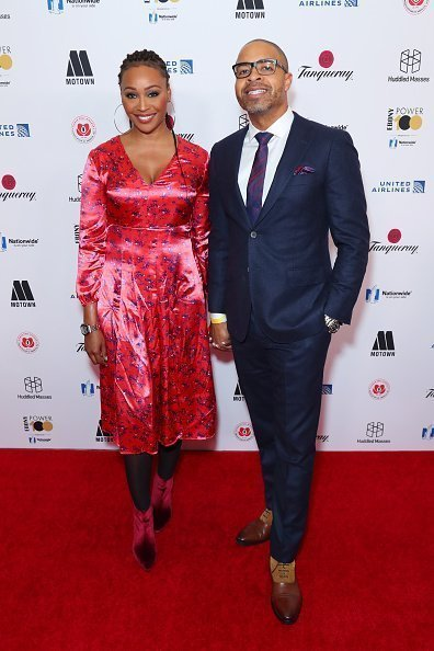 Cynthia Bailey and fiancé Mike Hill at Ebony Magazine's Power 100 Gala in November 2018. | Photo: Getty Images