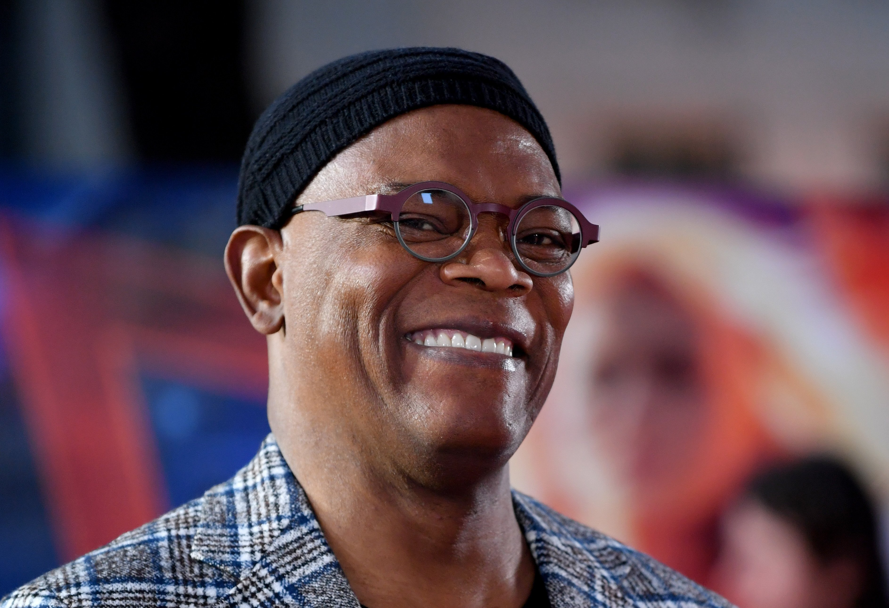 """Samuel L. Jackson attends the UK Gala Screening of Marvel Studios' """"Captain Marvel"""" at The Curzon Mayfair on February 27, 2019 in London, England 