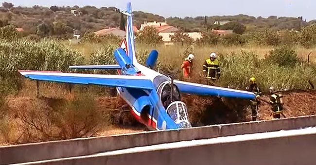 Crash d'avion à Perpignan, les pompiers ont réussi à maîtriser l'incendie