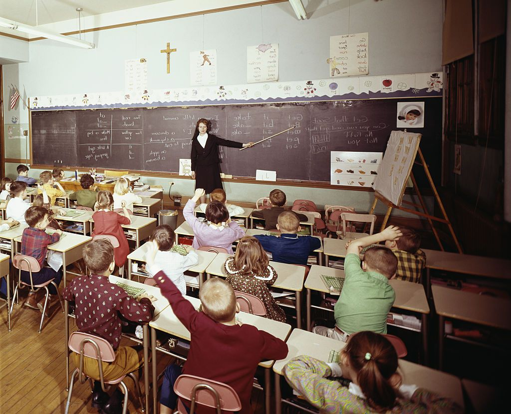 A childrens classroom years ago. | Source: Shutterstock