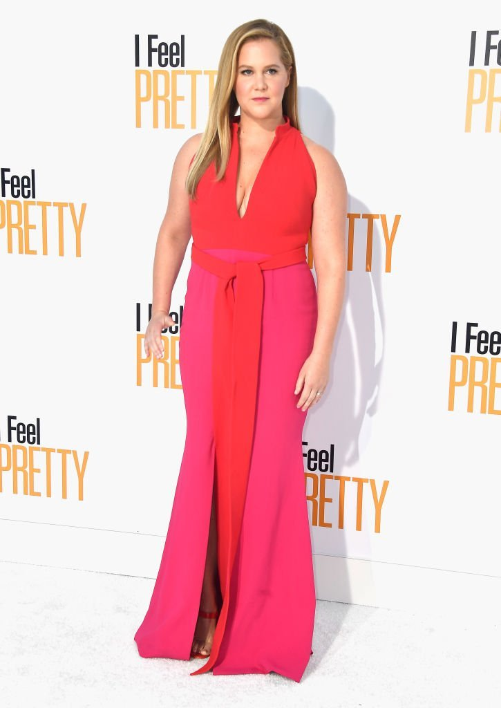 "Amy Schumer attends the premiere of STX Films' ""I Feel Pretty"" at Westwood Village Theatre. 