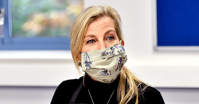 Sophie Wessex Glows in Cute Floral Face-Mask during a Disability Charity Visit