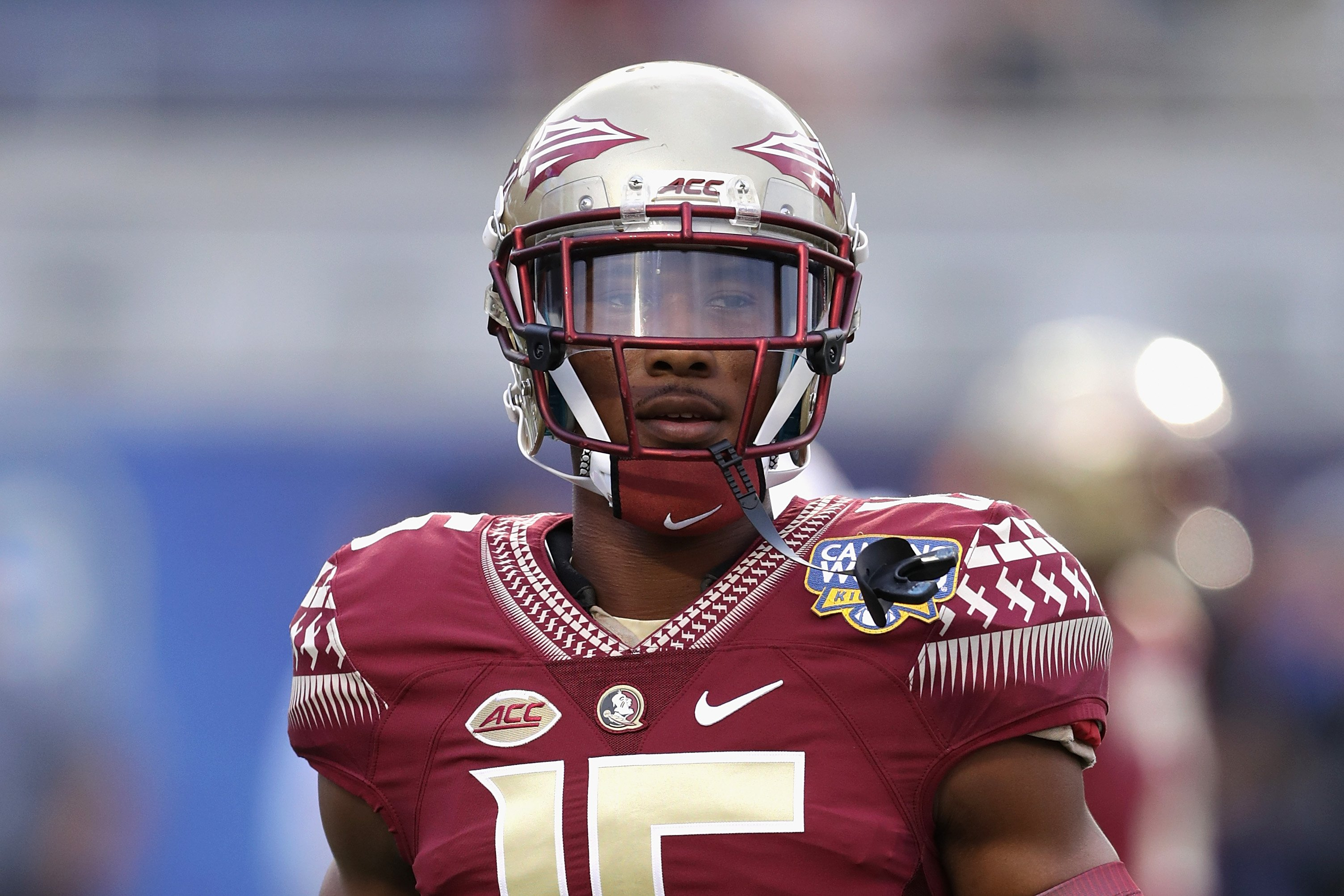 Travis Rudolph during a Florida State Seminoles game against the Mississippi Rebels on September 5, 2016 in Orlando, Florida. | Source: Getty Images