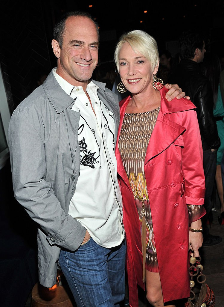 "Chris Meloni and wife Sherman Williams attend the screening of ""Dirty Girl"" after party at The Jimmy at the James Hotel on October 3, 2011 in New York City 
