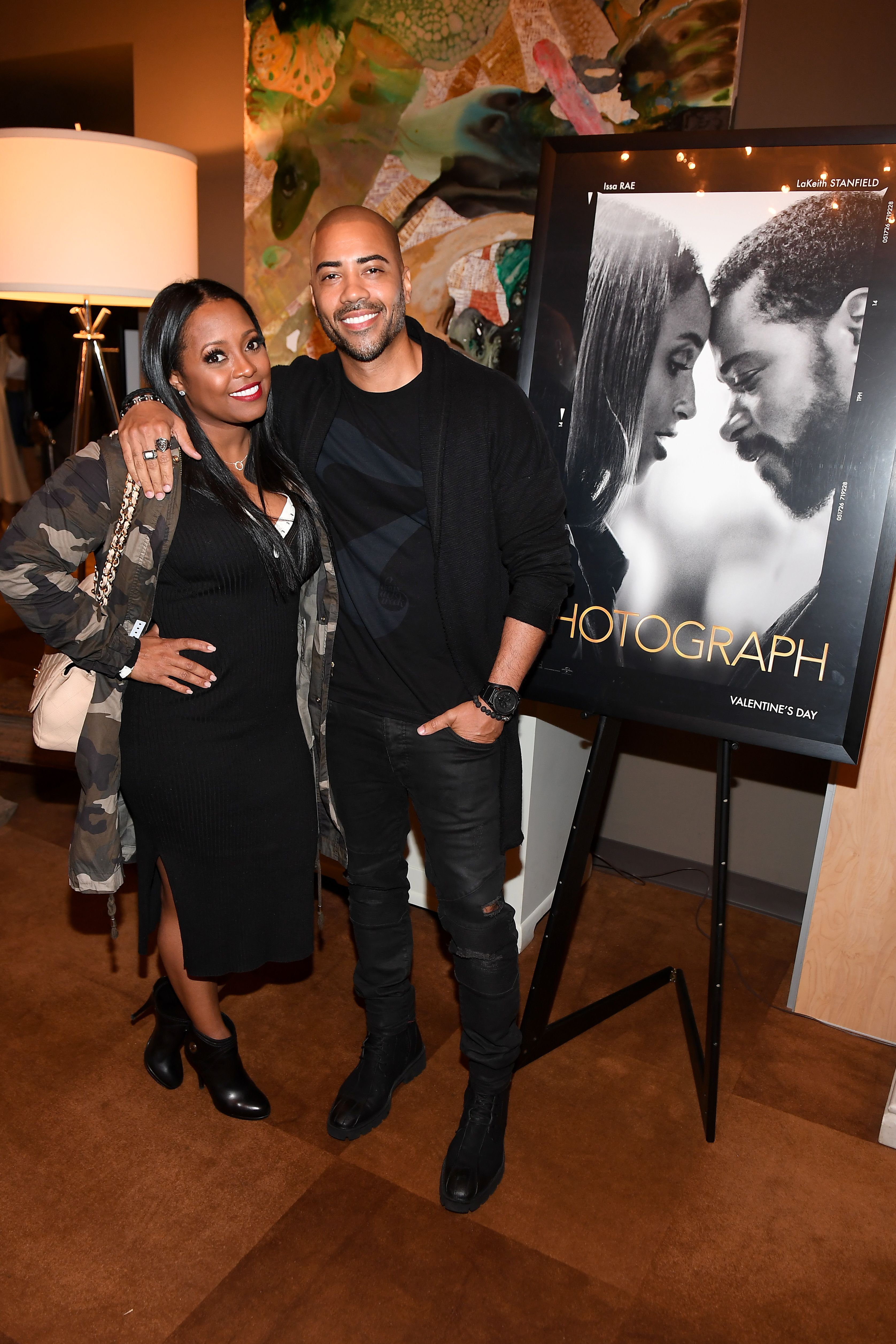 "Keisha Knight Pulliam and Brad James at a special screening of ""The Photograph"" in February 2020 in Atlanta, Georgia 
